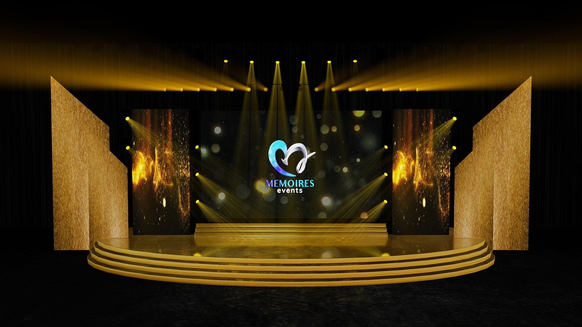 award dinner stage
